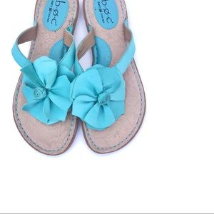 {B.O.C by BORN | Turquoise Floral Leather Sandal